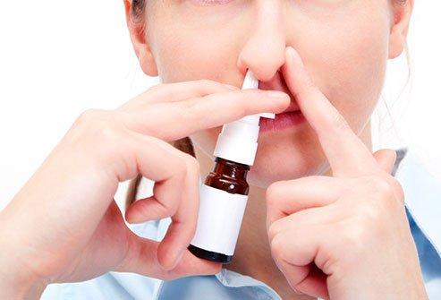 Spray nasal para rinite alérgica